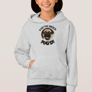 YOU'VE BEEN PUG'D! - FUNNY PUG DOG KIDS' HOODIE