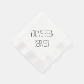 You've Been Served Custom Napkins Paper Napkin