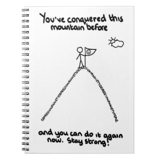 You've Conquered This Mountain Before Notepad Notebook