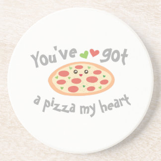 You've Got a Pizza My Heart Cute Funny Love Pun Coaster