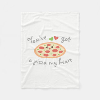 You've Got a Pizza My Heart Cute Funny Love Pun Fleece Blanket