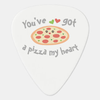 You've Got a Pizza My Heart Cute Funny Love Pun Guitar Pick