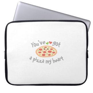 You've Got a Pizza My Heart Cute Funny Love Pun Laptop Sleeve