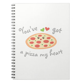 You've Got a Pizza My Heart Cute Funny Love Pun Spiral Notebook