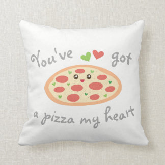You've Got a Pizza My Heart Cute Funny Love Pun Throw Pillow