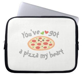 You've Got a Pizza My Heart Funny Punny Food Humor Laptop Sleeve