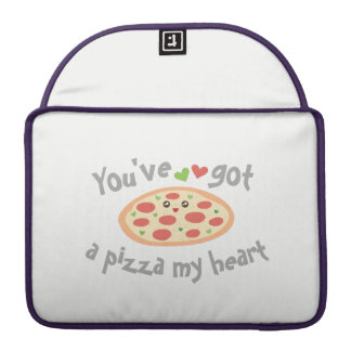 You've Got a Pizza My Heart Funny Punny Food Humor MacBook Pro Sleeves