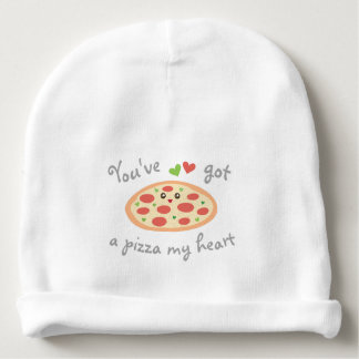 You've Got a Pizza My Heart Funny Punny Unisex Baby Beanie