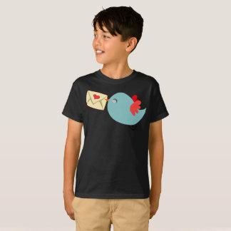 You've Got Mail Cute Blue Bird Wings Kids T-Shirt