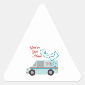 You've Got Mail Triangle Sticker