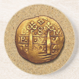 YoYo Island Pirate's Gold Doubloon Coaster