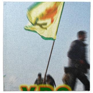 YPG - Kurdish Freedom Fighters of Kobani v2 Napkin