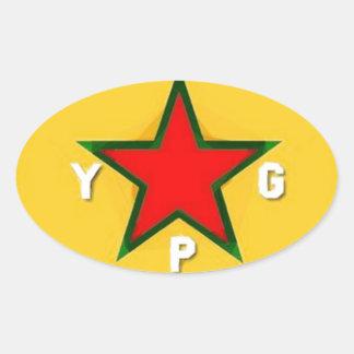 ypg logo 4 oval sticker