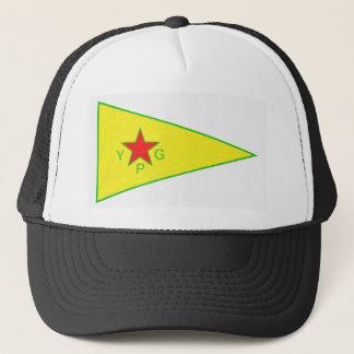 ypg logo 5 a trucker hat