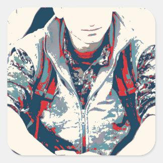YPG Soldier 3 Art 2 Square Sticker