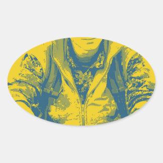 YPG Soldier 3 Art 4 Oval Sticker