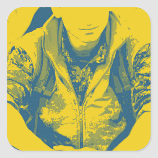 YPG Soldier 3 Art 4 Square Sticker