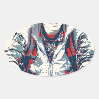 YPG Soldier 3 Art Oval Sticker