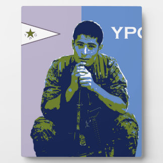 YPG Soldier 4 art 3 Plaque