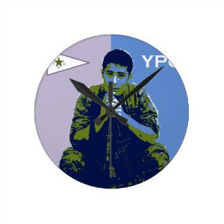 YPG Soldier 4 art 3 Round Clock