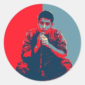 YPG Soldier 4 art Classic Round Sticker