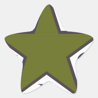 ypg-ypj 3 star sticker