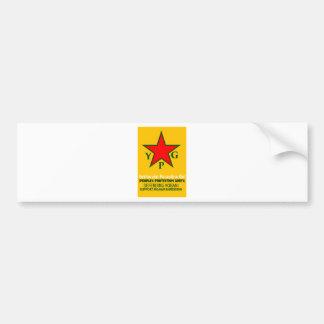 ypg-ypj - support kobani bumper sticker