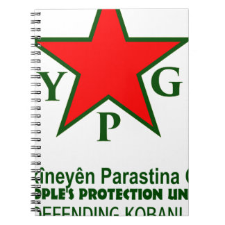 ypg-ypj - support kobani -clear spiral notebooks