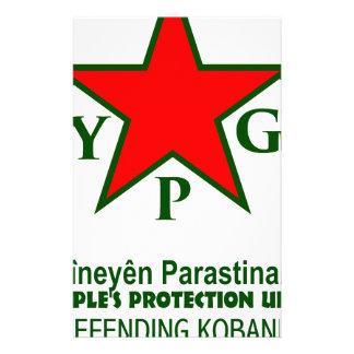 ypg-ypj - support kobani -clear stationery