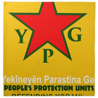 ypg-ypj - support kobani napkin