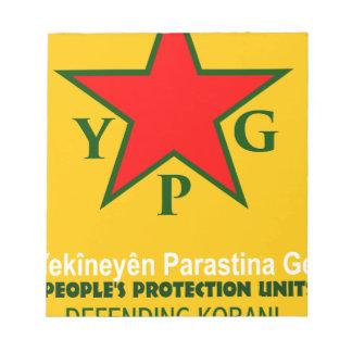ypg-ypj - support kobani notepad