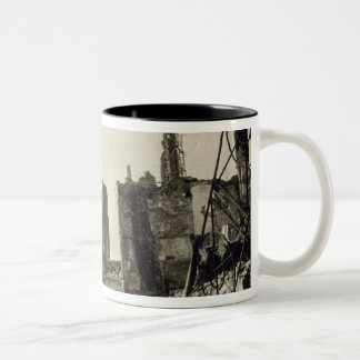 Ypres from Rue de Ville, June 1915 Two-Tone Coffee Mug