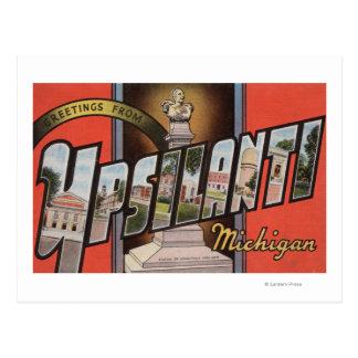 Ypsilanti, Michigan - grandes scènes de lettre Carte Postale