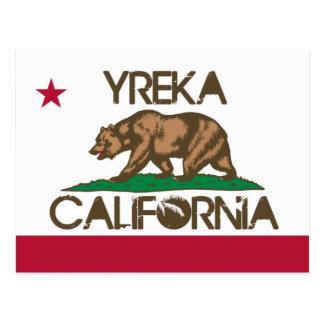 Yreka California Flag Postcard