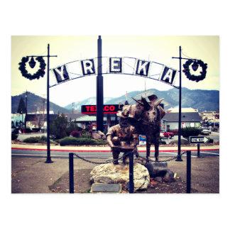 Yreka Miner Statue Postcard