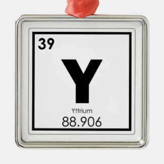 Yttrium chemical element symbol chemistry formula metal ornament