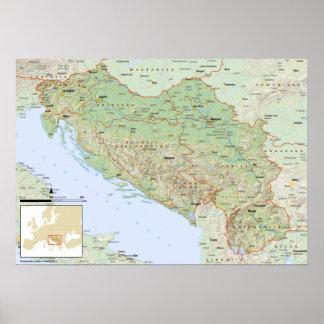 YU mapa hrvatski Poster