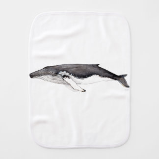 Yubarta, hunchbacked whale burp cloth