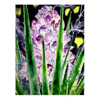 yucca flower southwestern watercolor art postcard