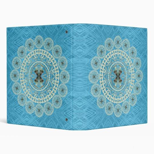 Yucca Mandala on Blue Pattern Binder