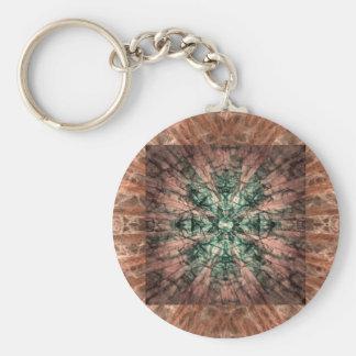Yucca Op Quilt Basic Round Button Keychain