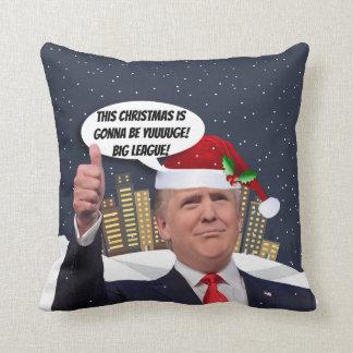 Yuge Christmas! Donald Trump Holiday Throw Pillow