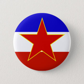 Yugoslavia Flag 2 Inch Round Button