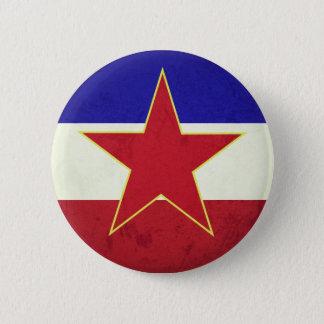 Yugoslavia flag 2 inch round button