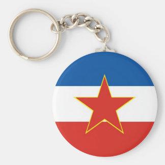 yugoslavia flag keychain