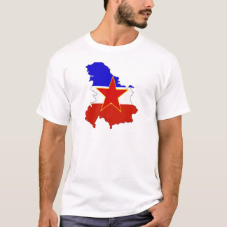 Yugoslavia Flag Map full size T-Shirt