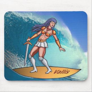 Yuko Vallis Mousepad Surfer Girl