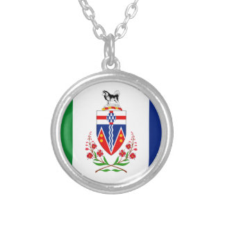 YUKON Flag Silver Plated Necklace