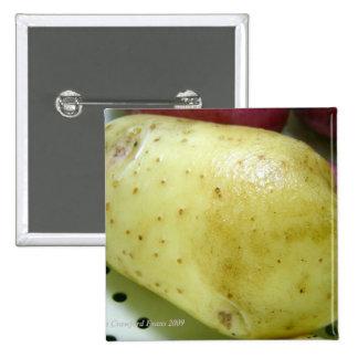 Yukon Gold potato 2 Inch Square Button