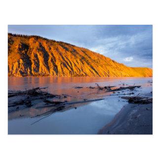 Yukon River clay bank Postcard